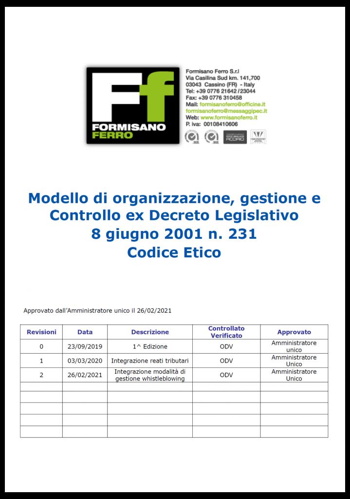 mod 231 719x1024 - Modello Organizzativo